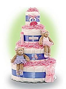 Торт из подгузников на Baby Shower