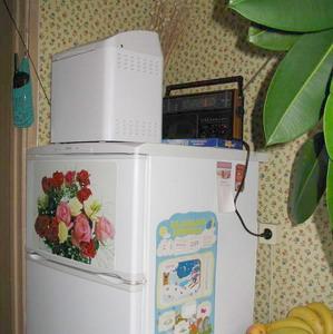 Хлебопечка на холодильнике. Фото с hlebopechka.ru