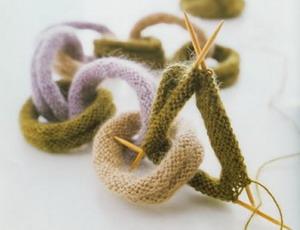 Модный вязаный шарф - цепочка, схема 2