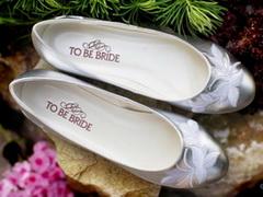 Как выбрать обувь для беременной невесты? Свадебные балетки