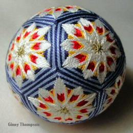 Темари - вышивка на шарах