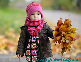 Осенняя прогулка с ребенком