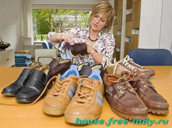 Как чистить обувь, как ухаживать за обувью