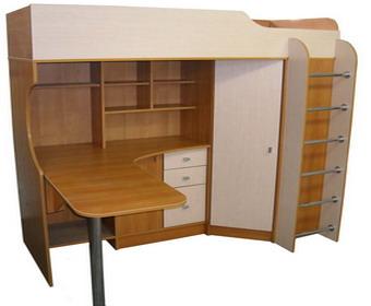 Кровать-чердак, детская мебель
