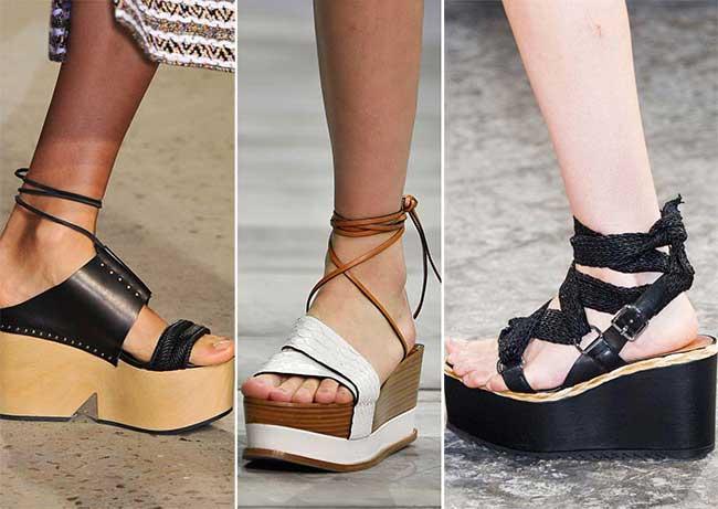 кожаная обувь на платформе - весна-лето 2015