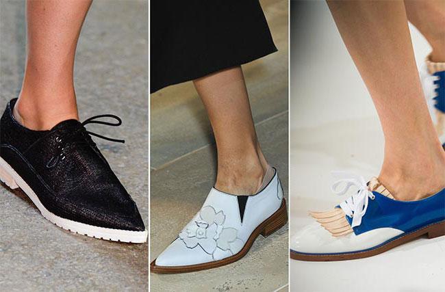 Обувь с треугольным мыском - весна-лето 2015