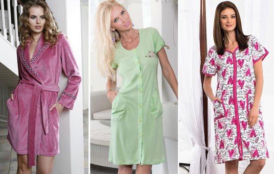 модные трикотажные халаты