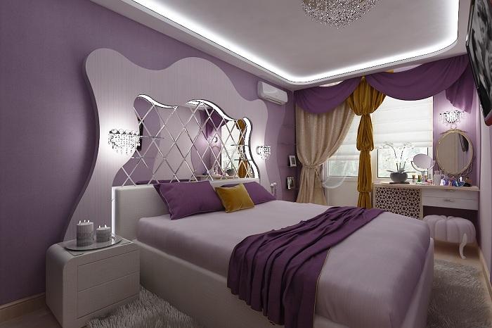 интерьер спальни для влюбленной пары