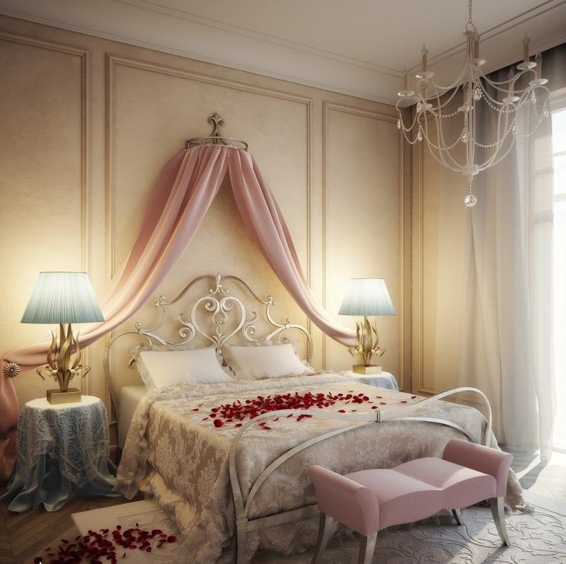 интерьер спальни новобрачных