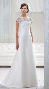 классическое свадебное платье А-силуэта